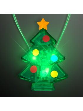 FlashingBlinkyLights Flashing LED Light Up Halloween Necklace