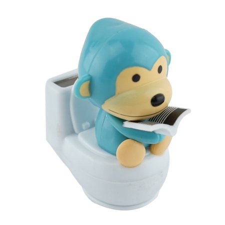 Solar Power Motion Toy Blue Monkey Toilet Restroom Figurine Light Activated Car Office Home Decor Cute Novelty Gift - Diy Suncatchers