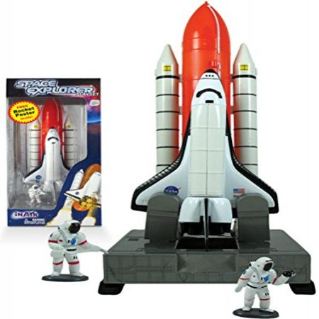 Space Explorer Space Shuttle Launch Center Playset with Educational Rocket (Space Shuttle Launch)