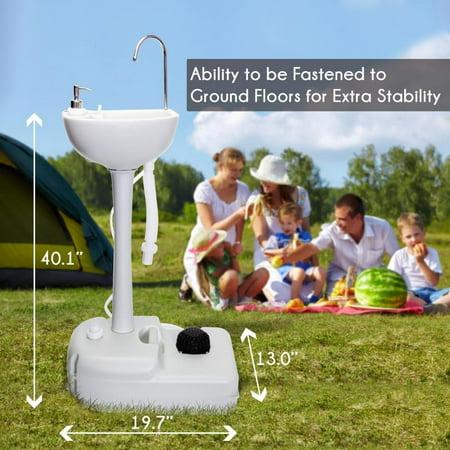 Zimtown Outdoor Portable Sink 19l Water Tank Capacity