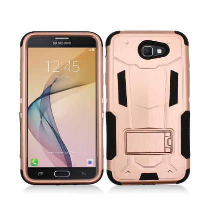 Rose Gold Contempo Tech Stand Case For Samsung Galaxy J7 (2017) / J7V / Sky Pro Phone