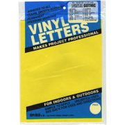 """Permanent Adhesive Vinyl Letters & Numbers .5"""" 852/Pkg-Yellow"""
