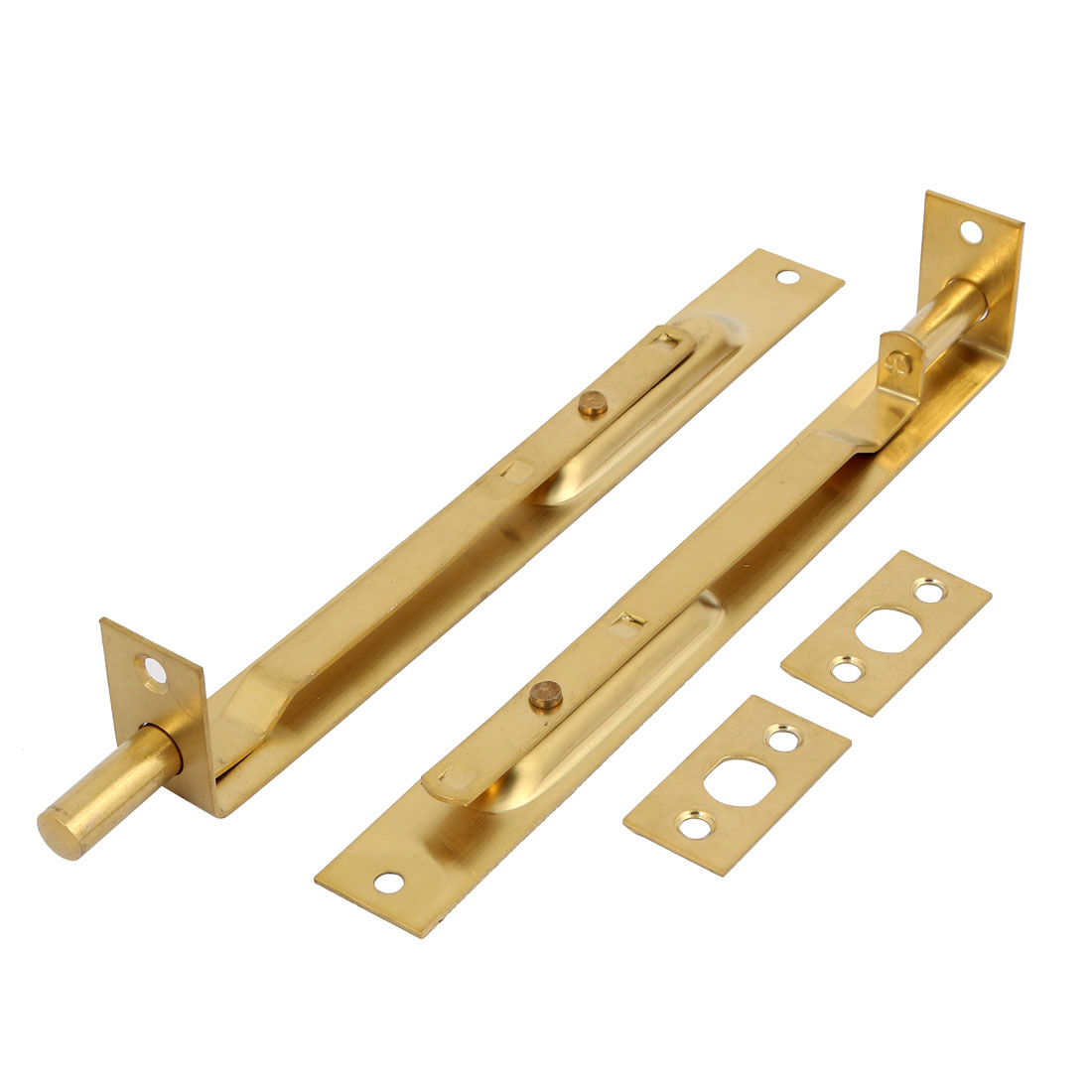 Unique Bargains 2 Pcs 8 Inch Length Stainless Steel Gold Tone Door
