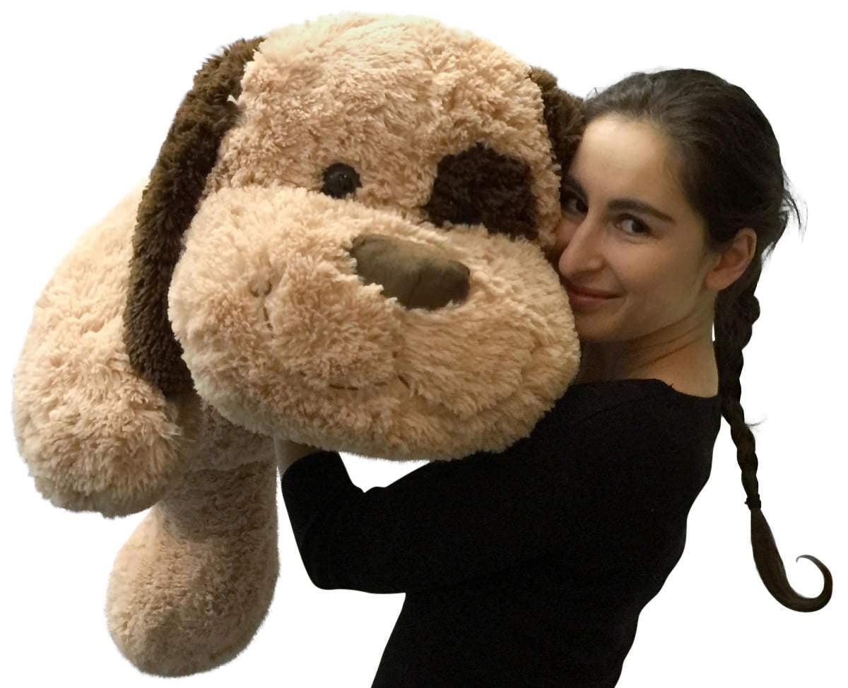 Giant Stuffed Dog 36 Inches Big Plush Soft Brown Oversized