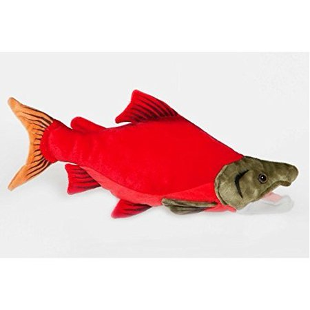 Sockeye salmon fish 10 plush stuffed animal toy for Fish stuffed animal