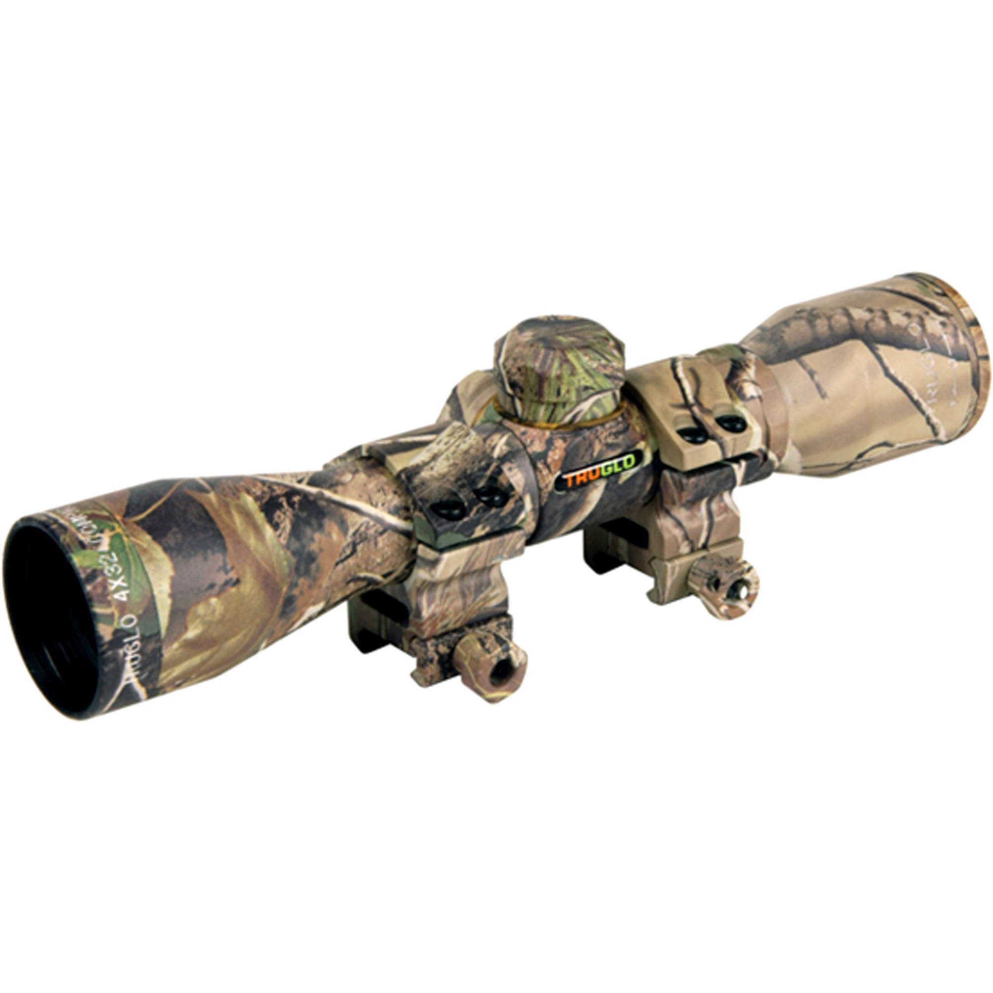 Truglo 4x32 Crossbow Scope with Rings, Camo