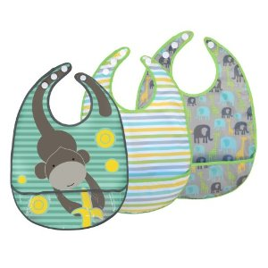 JJ Cole Bib Set, Gray Safari Multi-Colored