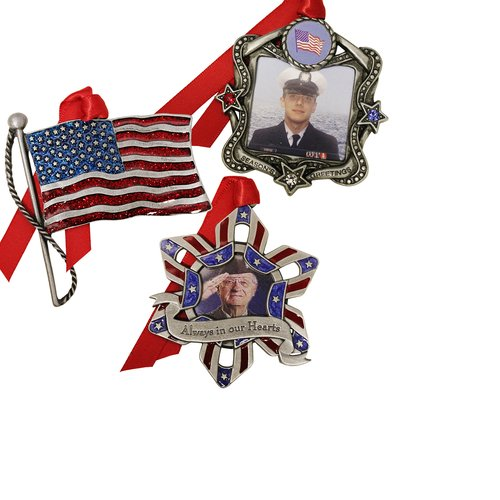 Gloria Duchin 3pc Patriotic Ornament Set