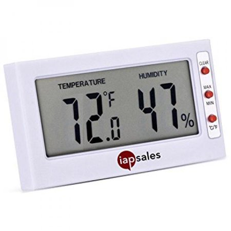 Easy To Read  Indoor Digital Thermometer And Humidity Meter  Large Digital Display Works In Celsius   Fahrenheit  Simple Temperature   Relative Humidity Monitor