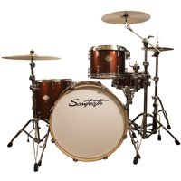 "Sawtooth Command Series 4-Piece Drum Set Shell Pack with 24"" Bass Drum, Red Streak"