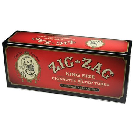 Zig Zag Cigarette Tubes Full Flavor King Size - 200ct Box..., By Queen City Candy Ship from US