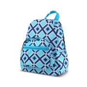 """Zodaca Bright Stylish Kids Small Backpack Outdoor Shoulder School Zipper Bag Adjustable Strap (Size: 9.25"""" L x 3.5"""" W x 11.5"""" H) - Hounds tooth Bow"""