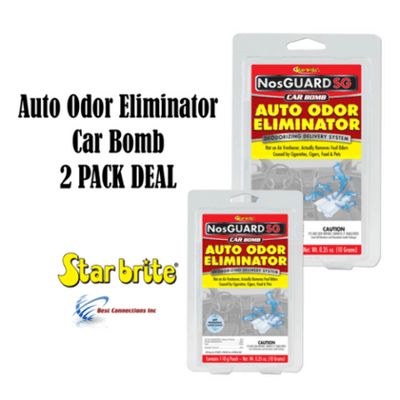 2 PACK Auto Odor Eliminator Control System Car Bomb Tobacco Smell (Best Homemade Room Deodorizer)