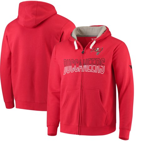 Fleece Tampa Bay Lightning Sweatshirt (Tampa Bay Buccaneers NFL Pro Line by Fanatics Branded Iconic Fleece Full-Zip Hoodie - Red )