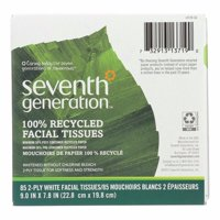 Seventh Generation Recycled Facial Tissue - Cube - Pack of 36 - 85 Count