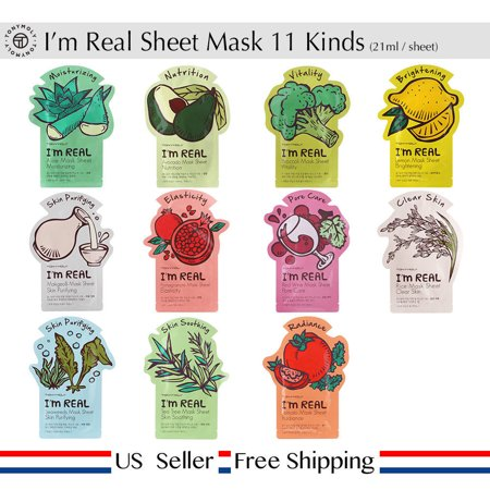 Tonymoly I'm Real Face Mask Sheet Pack, 11 Ct (Jigsaw Face Mask)