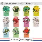 11 Pack - Tonymoly I'm Real Face Mask Sheet Pack 21ml