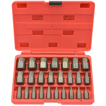 Neiko Multi-Spline Screw Extractor | 25pc Set Hex Head Bit Socket Wrench Bolt Remover