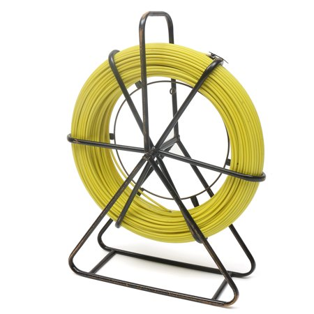 426.5ft Fiberglass Wire Pull Rods Fish Tape, Fiberglass Wire Cable Running Rod Kit Wheel