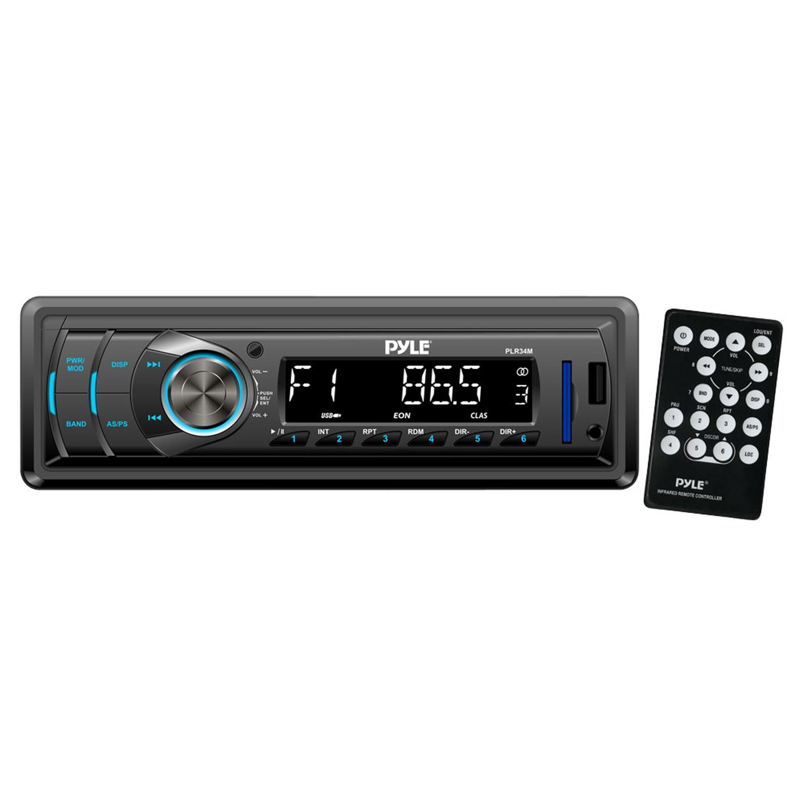 Pyle In-Dash AM/FM-MPX Receiver With MP3 Playback & USB/SD/Aux Inputs