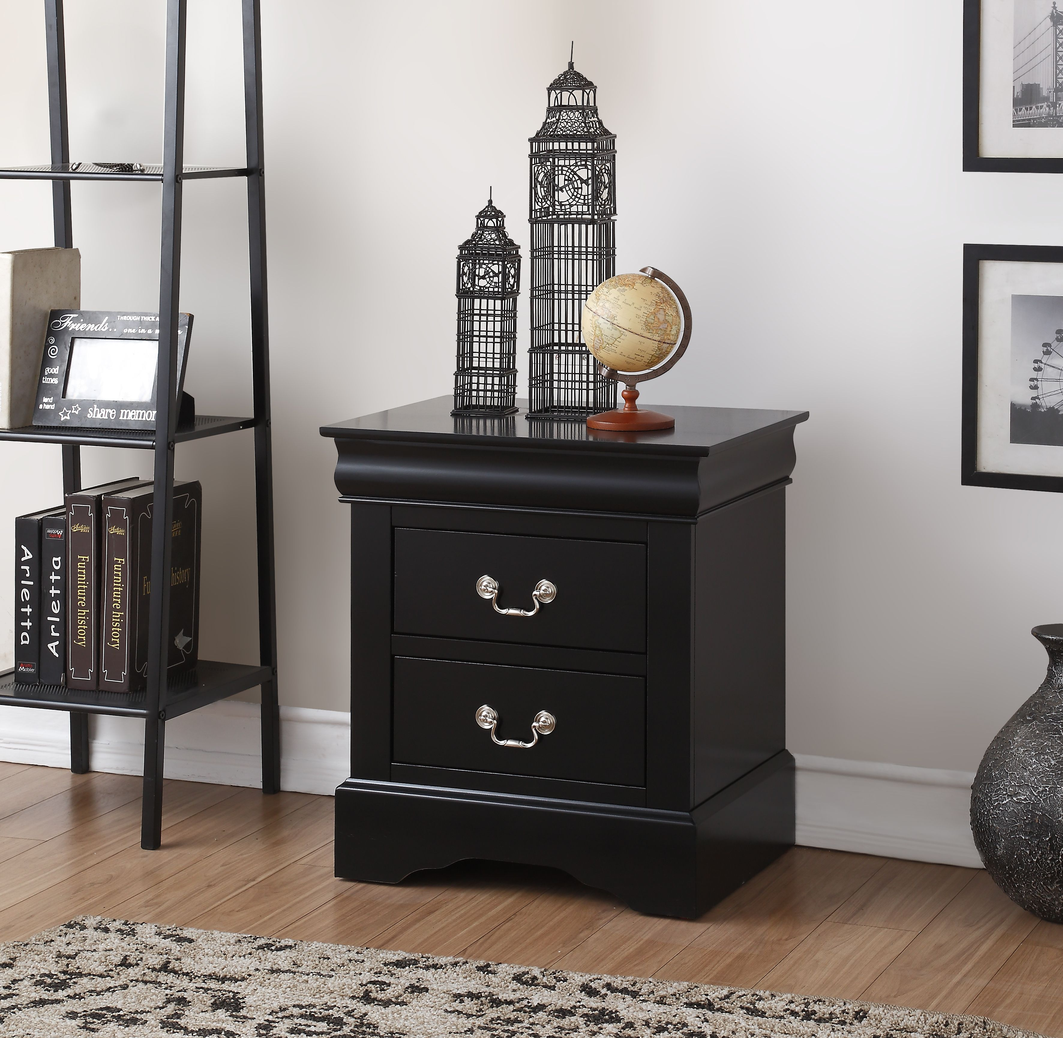 Acme Furniture Louis Phillipe III 2-Drawer Nightstand, Multiple Finishes