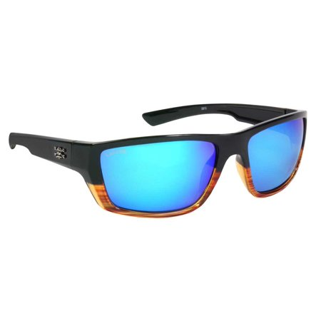 calcutta sw1bmwg shock wave sunglasses wood grain fade frame blue mirror (Shock Sunglasses)