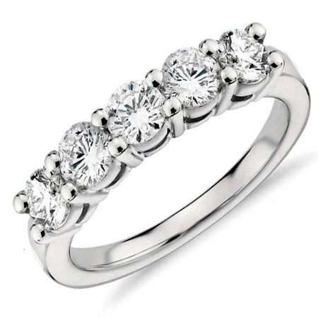 Bella Wedding Ring (Le Bella 1.25 ct Sterling Silver 5 Stone Anniversary Band Wedding Ring)