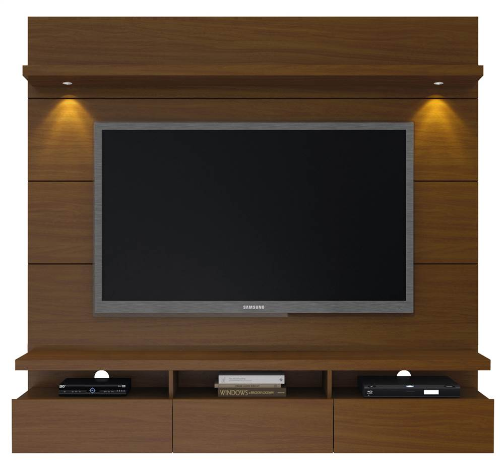 67.24 in. TV Entertainment Center in Nut Brown