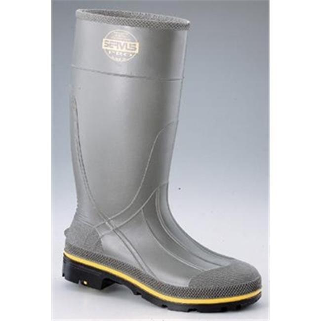 SERVUS 617-75101-10 Size 10, PRO Gray 15 in. PVC Knee Boo...