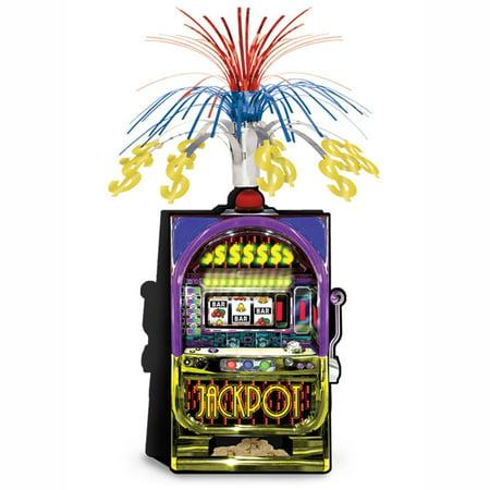 Pack of 12 Metallic Multi-Colored Casino Slot Machine Foil Centerpiece 13