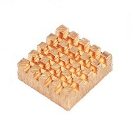 For Raspberry Pi 4 Model B Heat Sink Raspberry Pi Copper Cooling Pad Heatsink - image 2 of 7
