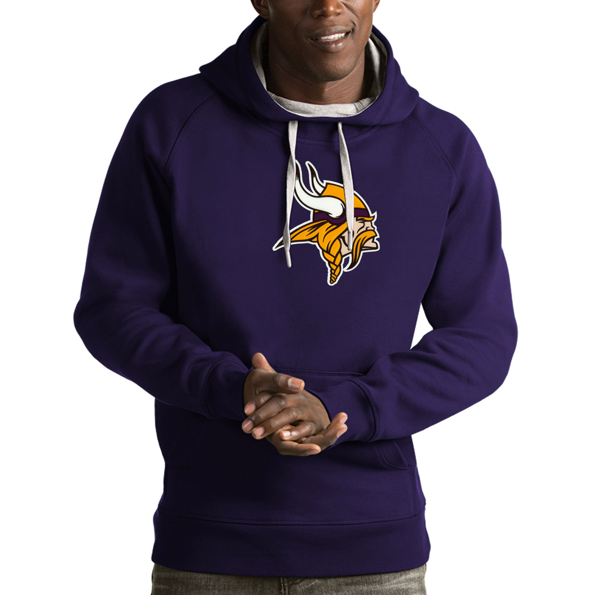 Minnesota Vikings Antigua Victory Pullover Hoodie - Purple