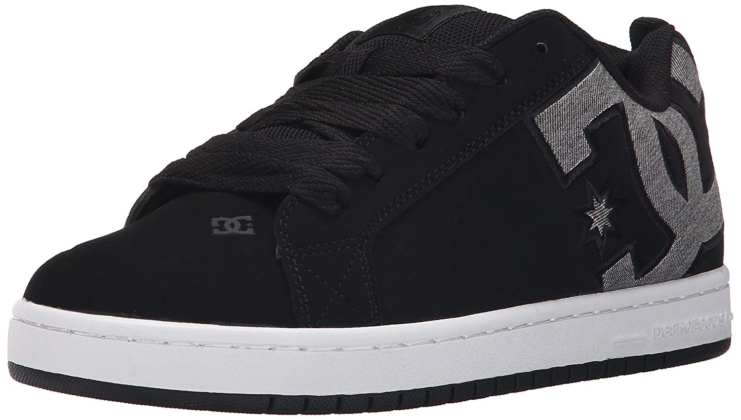 DC Mens Court Graffik S Shoes, Black Dark Used, 7.5D