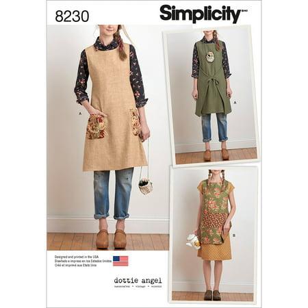 Simplicity Size XS-XL Apron Pattern, 1 (Simplicity Apron)
