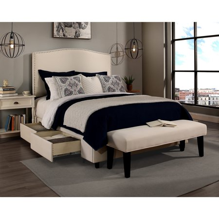 Republic Design House Newport Ivory Upholstered Queen Size
