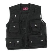 Mesh Fly Fishing Vest Hunting Outdoor Sports Vest Multi Pocket Waistcoat 3XL