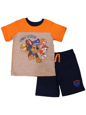 Paw Patrol Toddler Boys' Colorblock Tee and Shorts Set