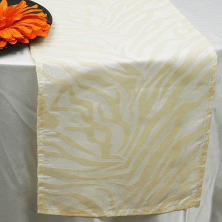 BalsaCircle 12'' x 108'' Safari Animal Print Zebra Table Top Runner - Wedding Party Reception Linens Dinner Event](Animal Table)