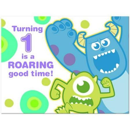 Monsters Inc 1st Birthday Invitations W Envelopes 8ct