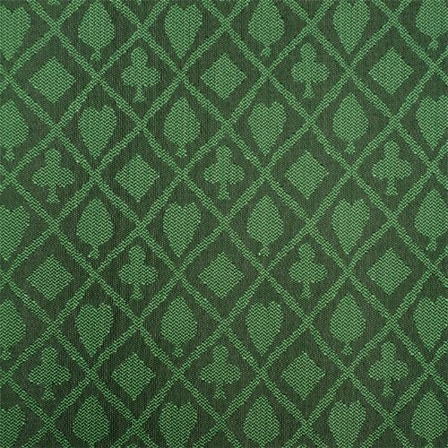 3 Yards of Suited Waterproof Poker Tablecloth, Emerald Green, Beautiful Diamond cloth for your gameroom table By... by