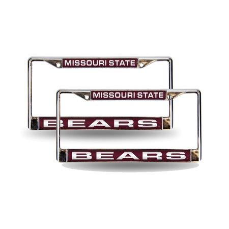 Missouri State Bears Chrome Metal (2) Laser Cut License Plate Frame Set
