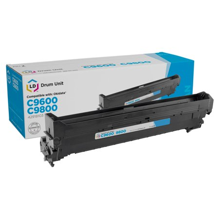 LD Remanufactured Laser Drum Unit Replacement for Okidata 42918103 Type C7 (Cyan) (Cyan Drum)