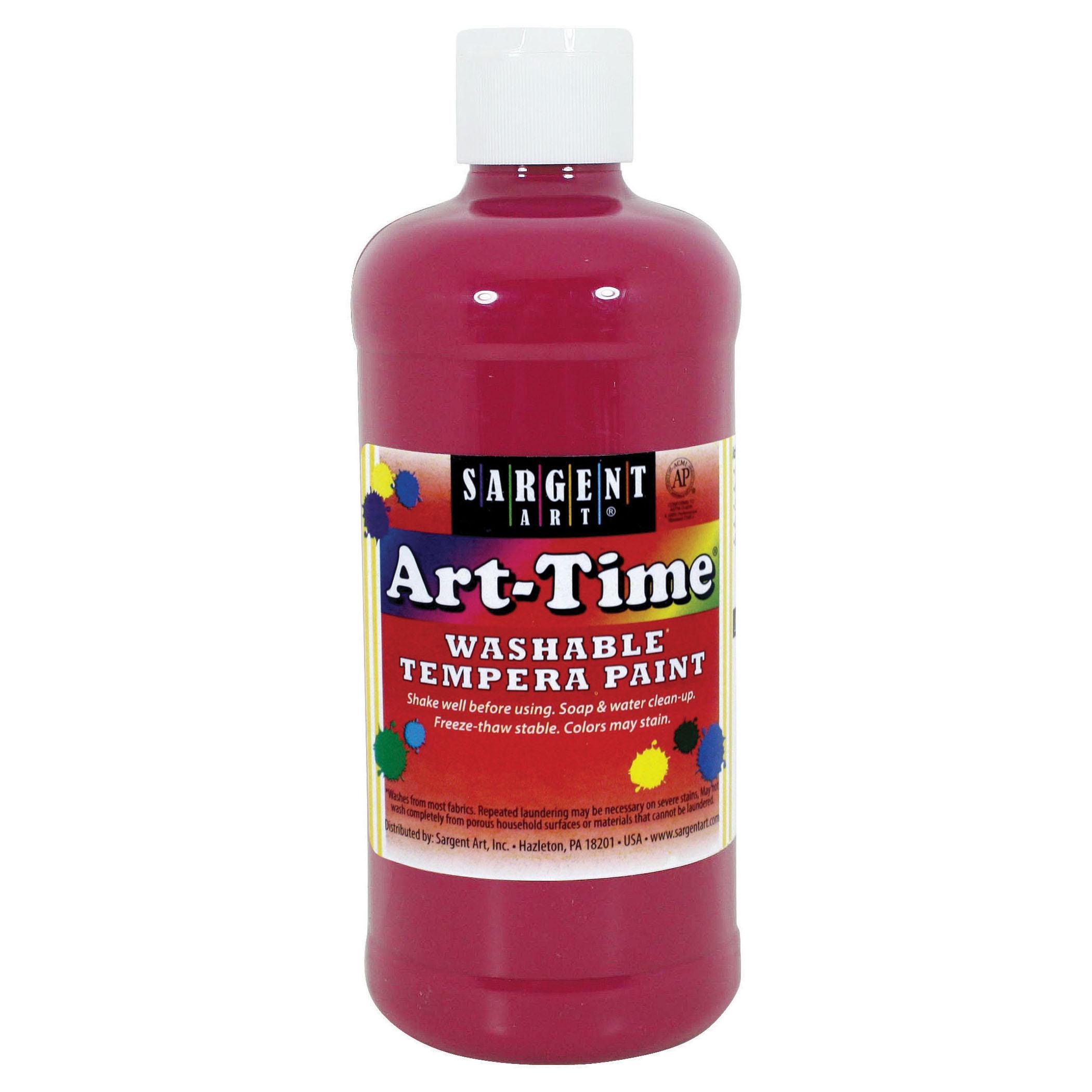 Sargent Art® Art-Time Washable Paint, 16 oz., Magenta, 12/Pack
