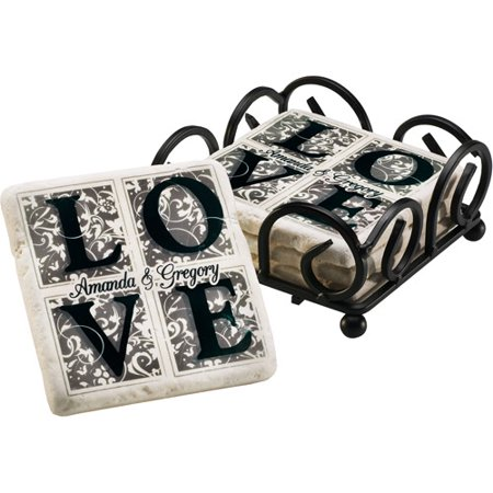Personalized LOVE Coaster Set - Personalized Photo Coasters