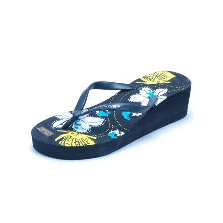 Sandal King - Womens Platform Wedge Sandals Flip Flops 2