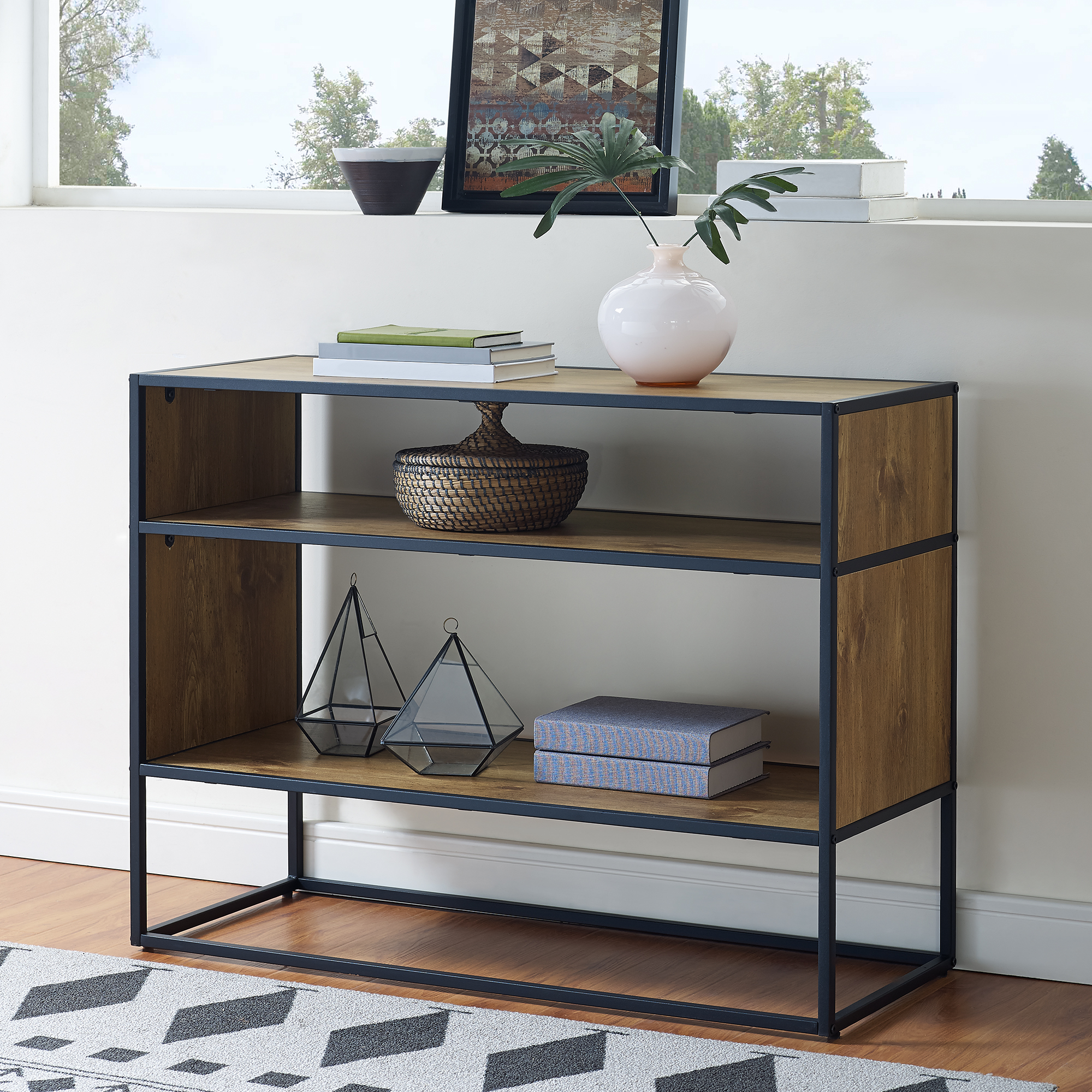 "Mainstays Atmore 40"" Media Storage Console Bookcase"