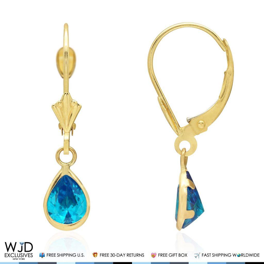 Mia Diamonds 14k White Gold 6mm Citrine Leverback Earrings