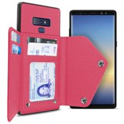 CoverON Samsung Galaxy Note 9 Wallet Case Fabric Backed Protective Credit Card Holder Phone Cover