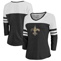 f199727ad Product Image New Orleans Saints NFL Pro Line by Fanatics Branded Women's  Distressed Primary Logo Three-Quarter