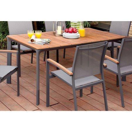Furniture of America Alcott Contemporary Style Outdoor Dining Table ()